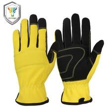 OZERO-guantes de Moto para hombre, guantes de Moto mecánicos de Super fibra reforzada para Motocross, guantes de conducción para motocicleta 9015