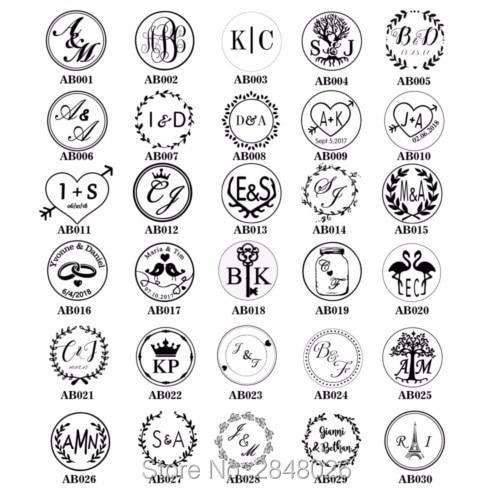 Custom two initials wax stamp kit,custom wedding date stamp Personlized Initials wedding wax seal stamp