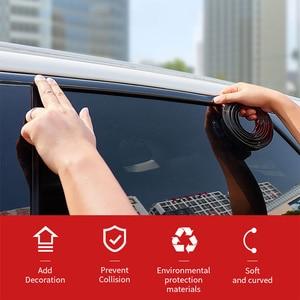 Image 5 - Chrome סטיילינג יציקת Trim רצועת רכב דלת מגן רצועות אוטומטי חלון מראה פגוש נגד התנגשות רכב גוף דקורטיבי Trim