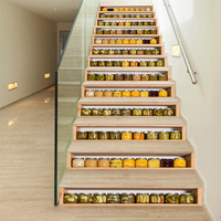DIY 3D Effect Canned Fruit Stairs Stickers Removable Vinyl Decal Waterproof Wallpaper Modern Living Room Home Decoration
