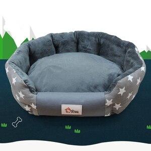 Image 4 - WHISM Stilvolle 3 Größen Warme Hund Bett Weichen Wasserdichte Matten für Small Medium Hund Herbst Winter Haustier Katze Bett Runde haus Liefert