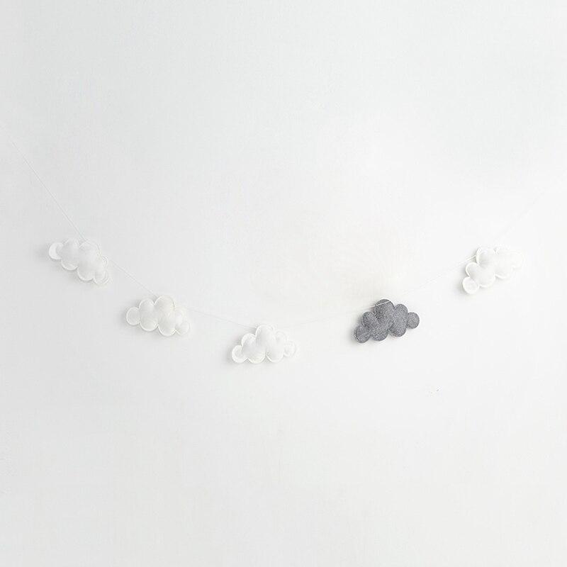 Скандинавский стиль, детская комната, Декор, навес для детской кроватки, декор в виде облака, Декор для дома, гирлянда, реквизит для фотосъемки, Настенное подвесное украшение - Цвет: 2