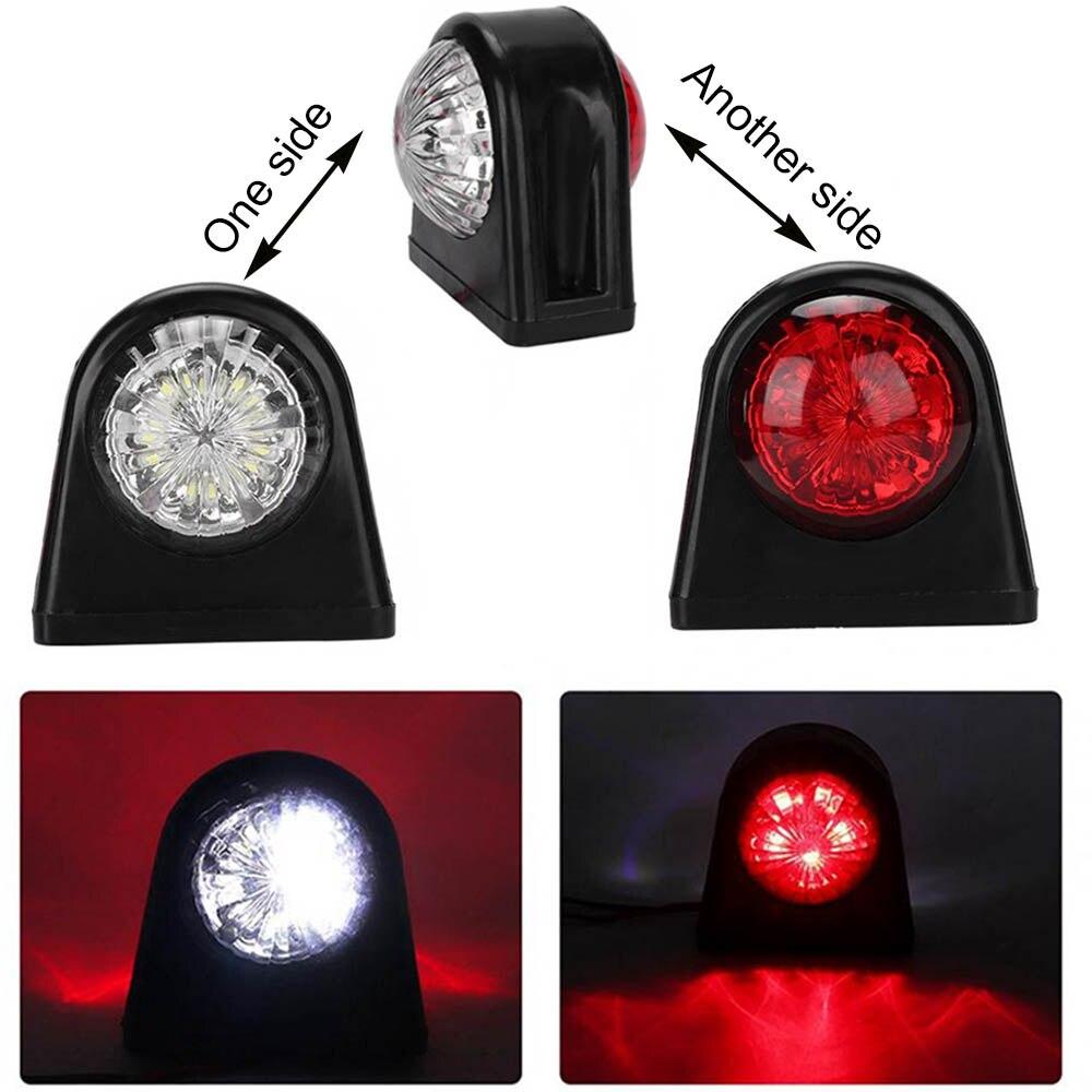 10-30V Car Truck LED Side Marker Light Rubber Plastic Double Side Indicator Lamps Red White For Trailer Lorry Van
