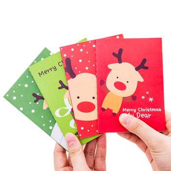Świąteczna książka do pisania cartoon 64k świąteczna mała książka śliczna kieszonkowa notatnik ręczna książka przenośna szkicownik noworoczna książka tanie i dobre opinie CN (pochodzenie) dekoracja Segregator W3A1 Kartki memo