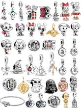 fit original Europe DIY bracelet 100% 925 sterling silver StarWars beads movie character charms or woman pendant jewelry make