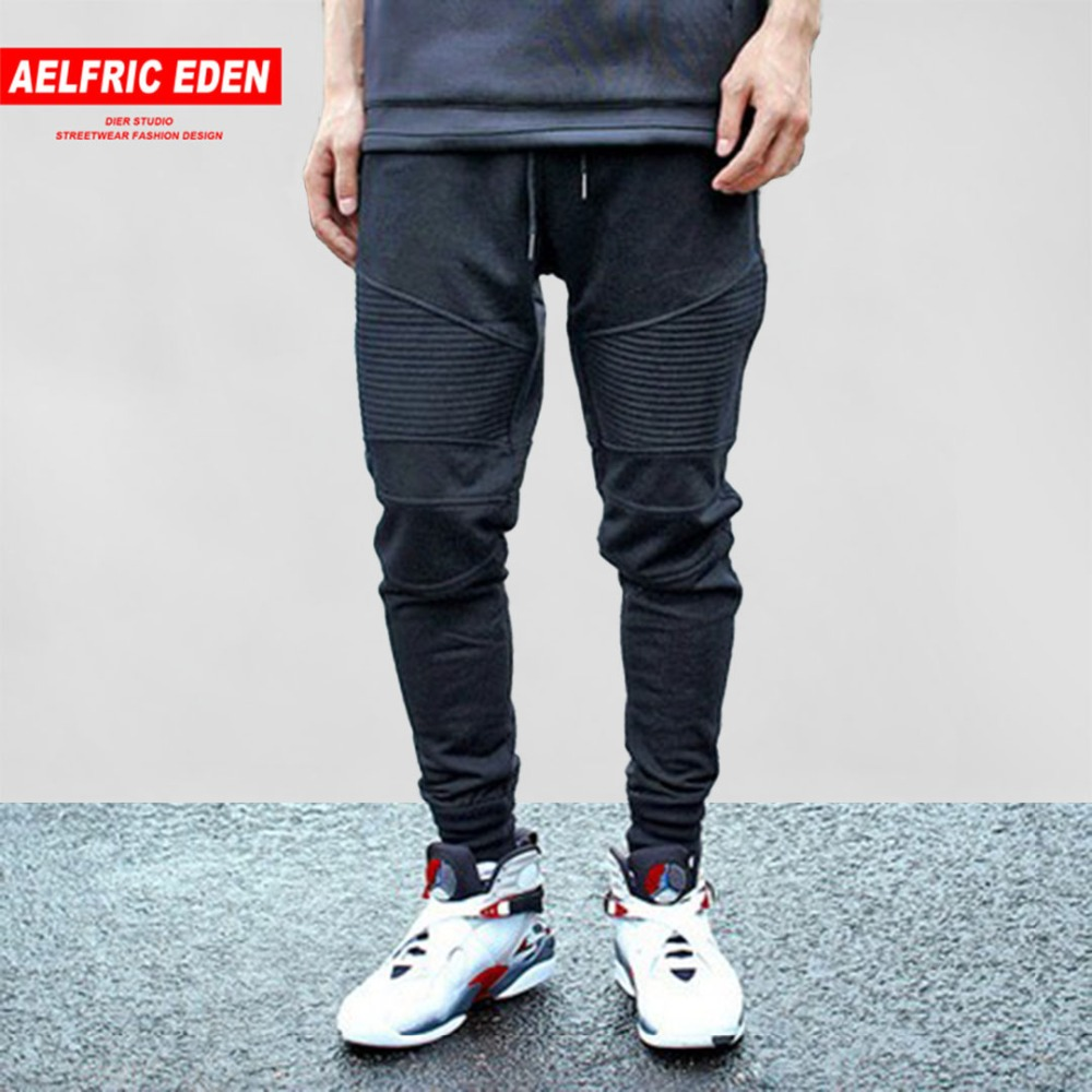 Aelfric Eden Hip Hop Joggers Sweatpant Pleated Simple Men Pants Feet Black Trousers Men Cotton Harem Pants Cozy Casual Pant 2020