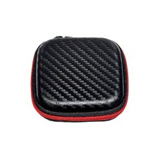 KZ Portable Mini PU Leather Earphone Storage Organizer Holder Carrying Hard Case Winder Stretch Earbud