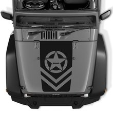 Para jeep wrangler invasão exército estrelas vinil decalque capa adesivo jk tj lj
