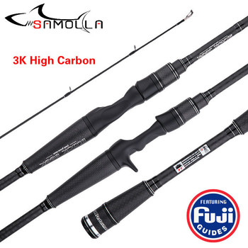 Strong Fishing Rod Carbon Hand Fugi Ring Spinning Casting Rod Canne A Peche Carbonne Olta Kamislari Baitcasting Ultra Light Rod fishing rod three section 3 3m vara de pesca canne spinning canne a peche carbonne carp peche en mer fly fishing rod ice pesca