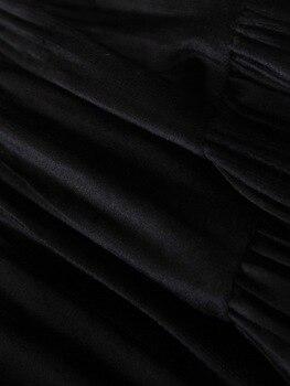 Chic Women Pleated Skirt Spring 2020 New Fashion Cascading Ruffles Black Bottom Modern Lady Mid-Calf Skirts 5