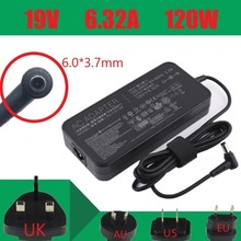 Genuine For Asus Laptop Adapter 19V 6.32A 120W DC 6.0*3.7mm