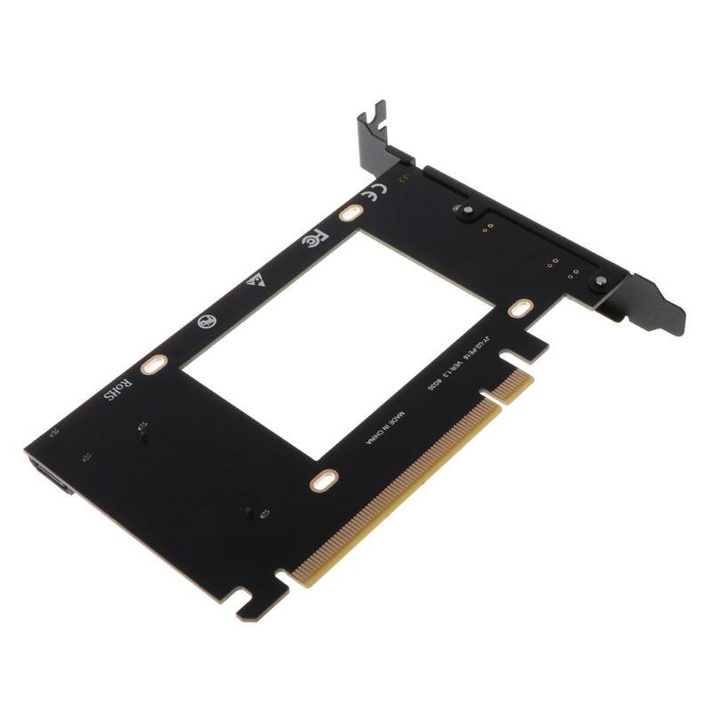 PCI-E Riser 3.0 4X X16 To U.2 SFF-8639 Adapter NVMe PCIe SSD PCI-e To U2 Card M.2 NGFF 2.5' SSD To PCI-EX16 Intel