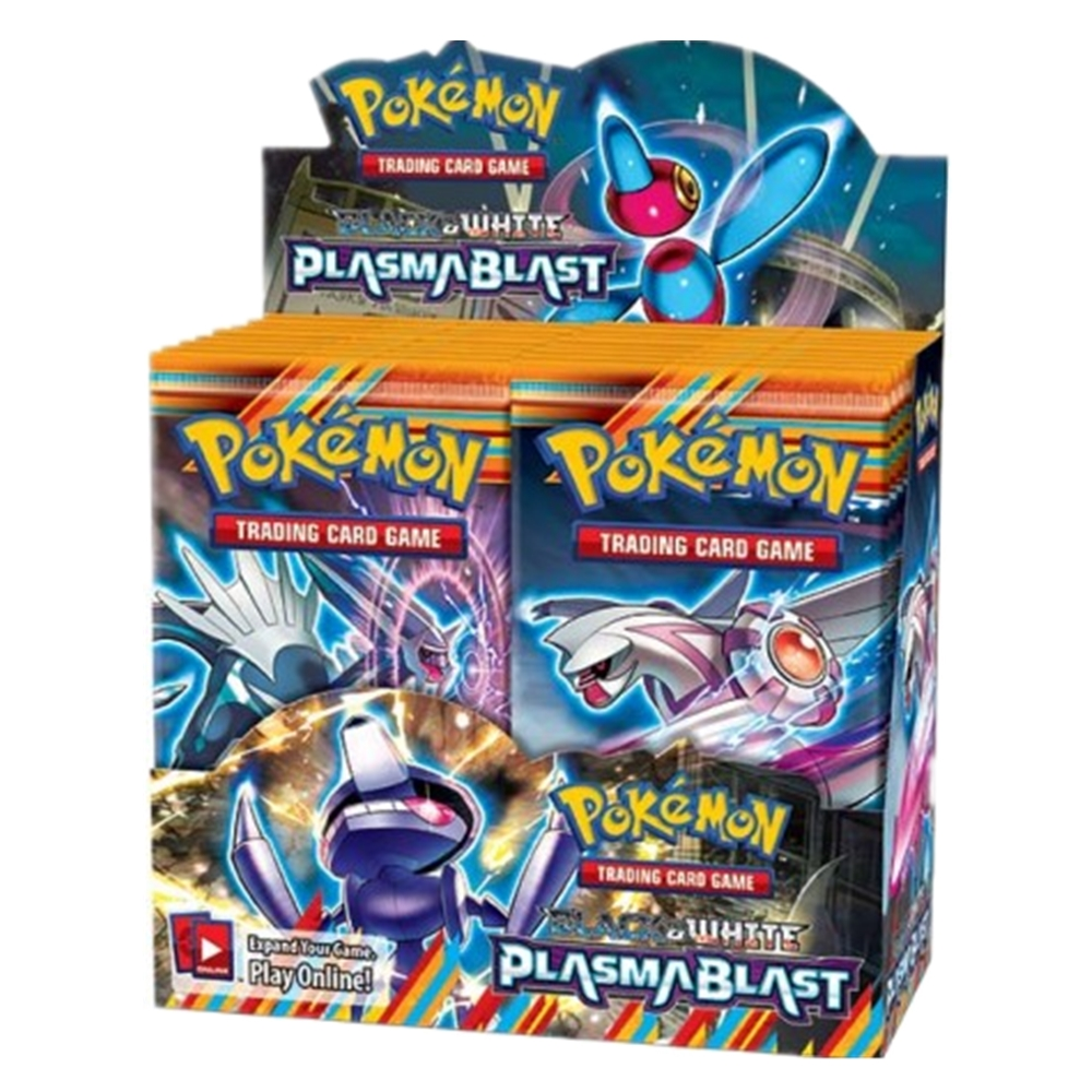 324 Cards Pokemon TCG: Sun & Moon Black & White Plasmablast Booster Sealed Box | Collectible Trading Card Set