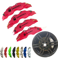 8 Colors ABS Plastic Disc Brake Caliper Cover Opel Logo Vauxhall Sticker Car Styling For Opel Front Rear Free Shipping