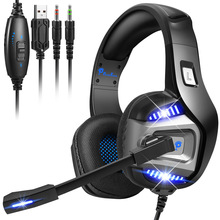 Deep Bass Stereo Led Light Gaming headphones For PS4 PS5 Fifa 21  Xbox Laptop PC Gamer headsets Noise Reducetion Headset Mic