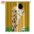 Переделка Gustav Klimt Kiss оконные занавески s гостиная наружные тканевые занавески домашний декор