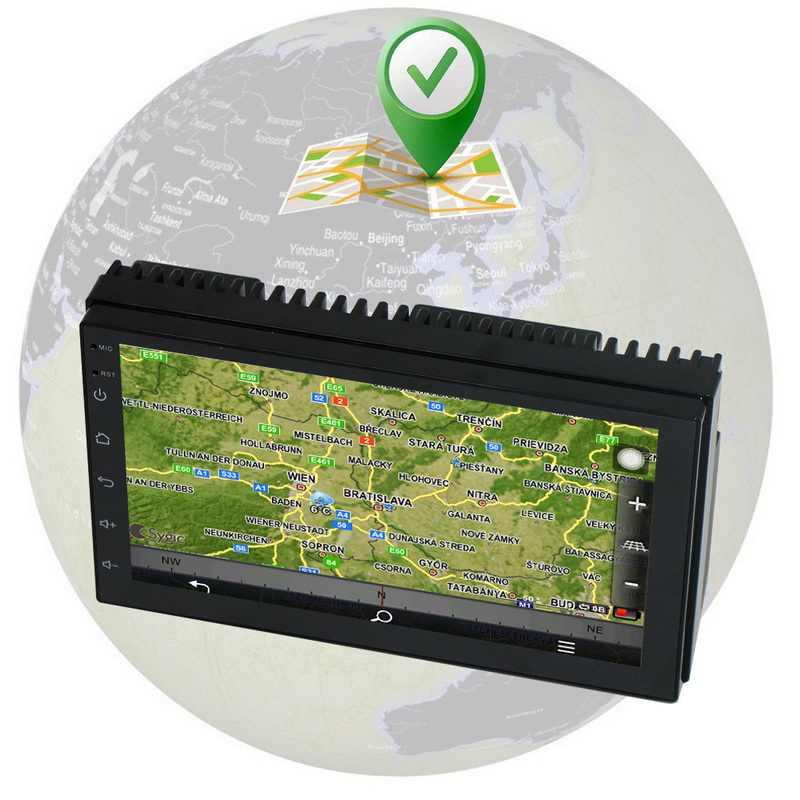 """سيارة مشغل وسائط متعددة سيارة Mp5 لاعب Andriod 8.1 2 الدين 7 """"سيارة Mp3 Mp4 الصوت راديو ستيريو لتحديد المواقع والملاحة HD Autoradio واي فاي USB FM"""