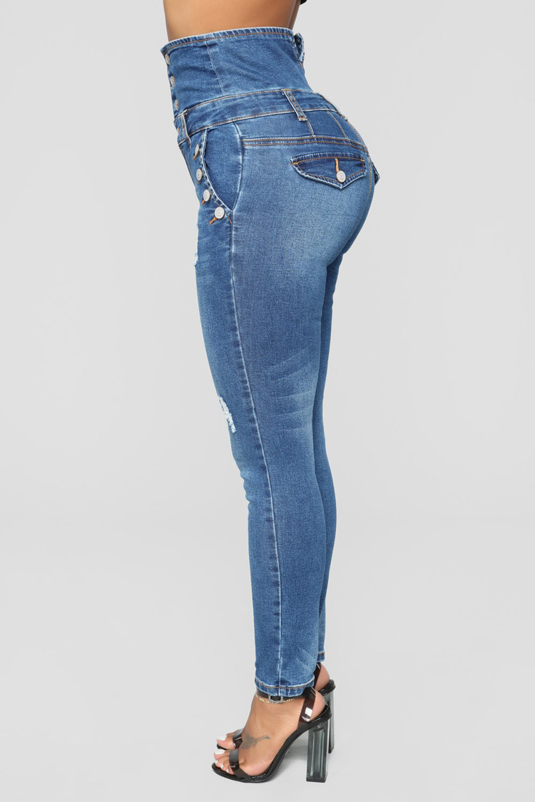 European And American-Style Quality High-waisted Overcharging You Ultra-stretch Skinny Pants