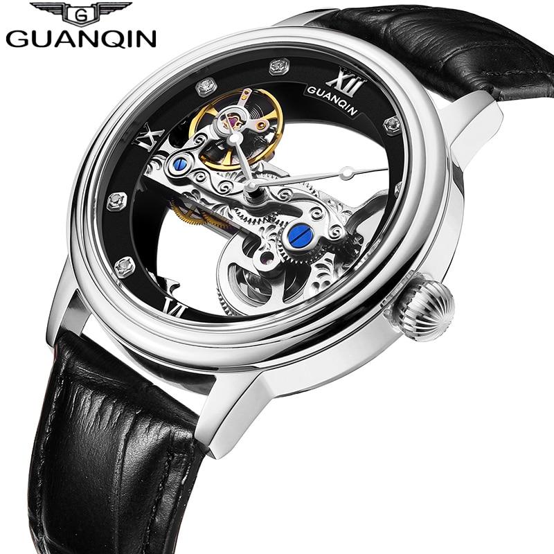 GUANQIN New men watches top brand luxury Automatic Luminous clock men Tourbillon waterproof gold Mechanical relogio masculino