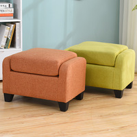 Nordic Single Children Sofa Chair Simple Small Family Bedroom Coffee Shop Coffee Room Cloth Sofa Child Stool Shoe Changing Stool