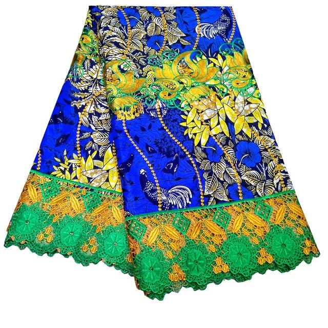 Kwanzaa Nieuwe Ontwerp Wax Stof Hoge Kwaliteit Nigeriaanse Afrikaanse Borduurwerk Kant Stof Voor Trouwjurk