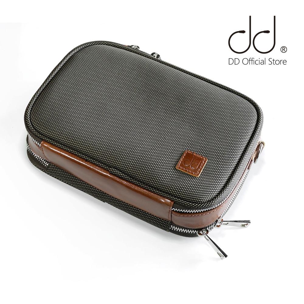 Чехол для переноски DD ddHiFi, чехол для аудиофилов, сумка для хранения DAP, DAC и наушников, защитный чехол, коричневый