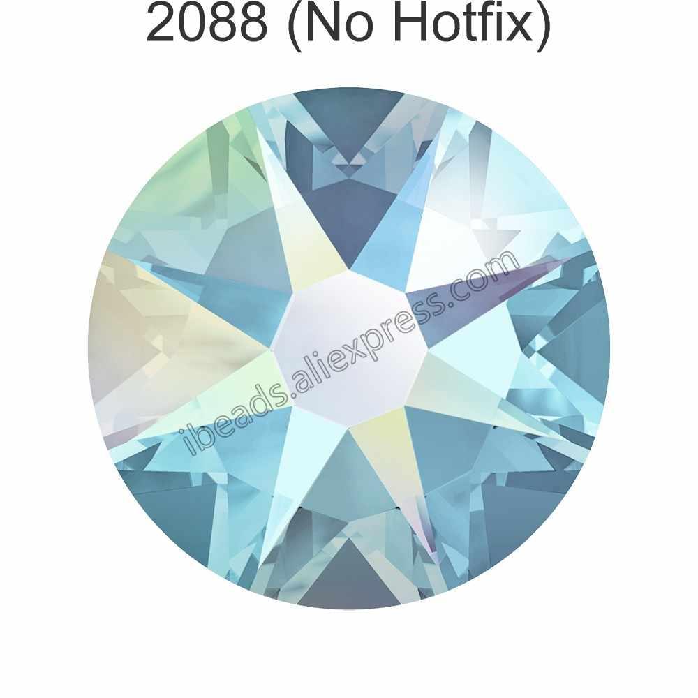 (24 Pcs) originale Cristalli Swarovski 2058 XILION 2088 XIRIUS Rose non hotfix rhinestone della parte posteriore piana strass per gioielli di arte del chiodo