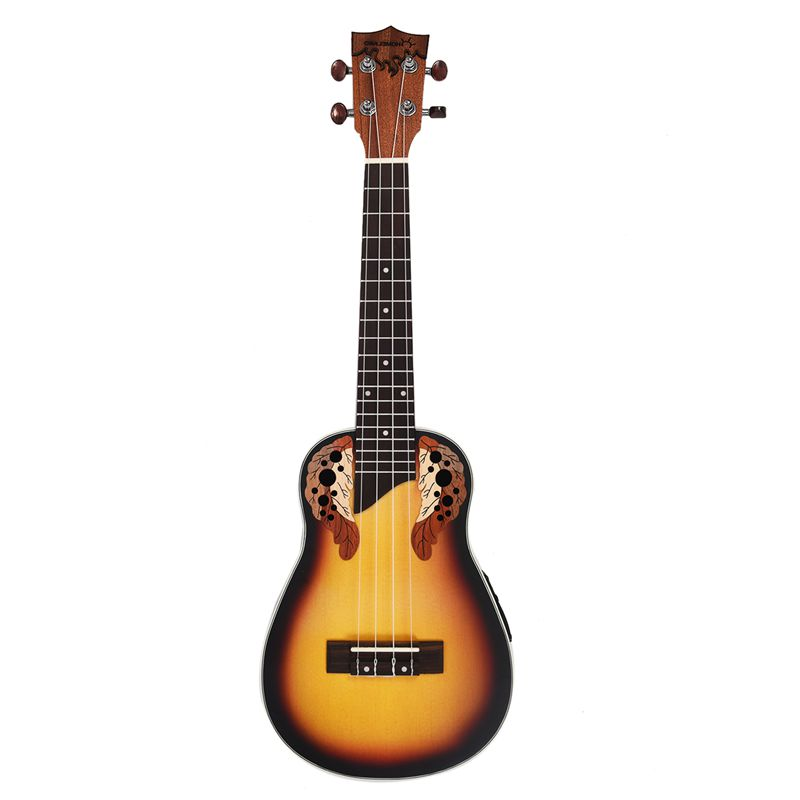Hot HG-23 pollici Compatto Ukulele Ukulele Hawaiano Rosso Sunset Glow Abete Tastiera In Palissandro Ponte Concerto Strumento A Corde wit