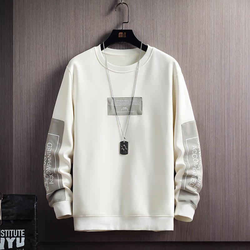 Fleece Sweatshirt Hoodie Pullover-Letter Hip-Hop-Harajuku Japanese Mens Streetwear Male