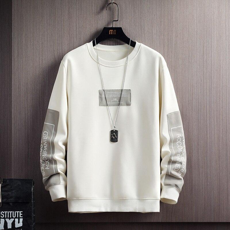 Мужская Флисовая Толстовка в стиле Харадзюку, повседневная кофта с надписью, пуловер в стиле хип-хоп, Японская уличная одежда, осень 2020