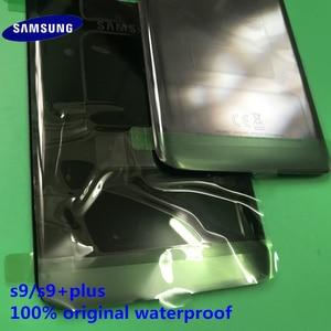 Image 2 - الأصلي جديد سامسونج غالاكسي S9 plus S9 + الغطاء الخلفي الباب الخلفي الإسكان غطاء الزجاج الخلفي غطاء البطارية قطع غيار سامسونج S9