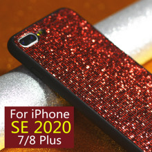 Etui na iphone se 2020 etui na telefon luksusowe i 7 plus 8plus 8 7 plus i7 iphone 7 iphone 8plus iphone 8plus plus plus plus 8plus bling skóry tanie tanio Aneks Skrzynki Luxury Bling Apple iphone ów IPhone 7 Plus IPHONE 8 PLUS Matowy Brokat Odporna na brud Anti-knock 3XRX164960418
