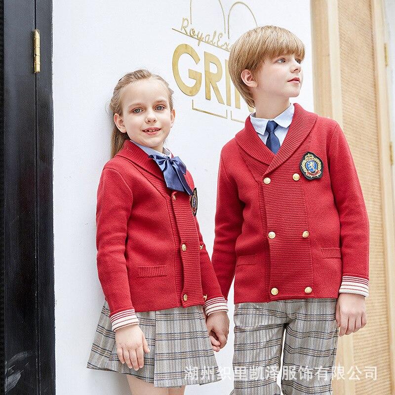 Kindergarten Suit College Style Autumn And Winter Primary School STUDENT'S School Uniform Set British Style Children Business At