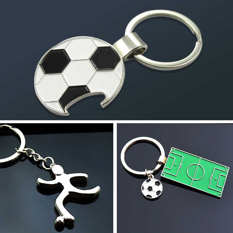1pc di Calcio Ventole Souvenir di Calcio Bottle Opener di Calcio di Calcio Portachiavi Portachiavi Key Holder Sport Regalo di Natale Dell'anello del Commercio All'ingrosso