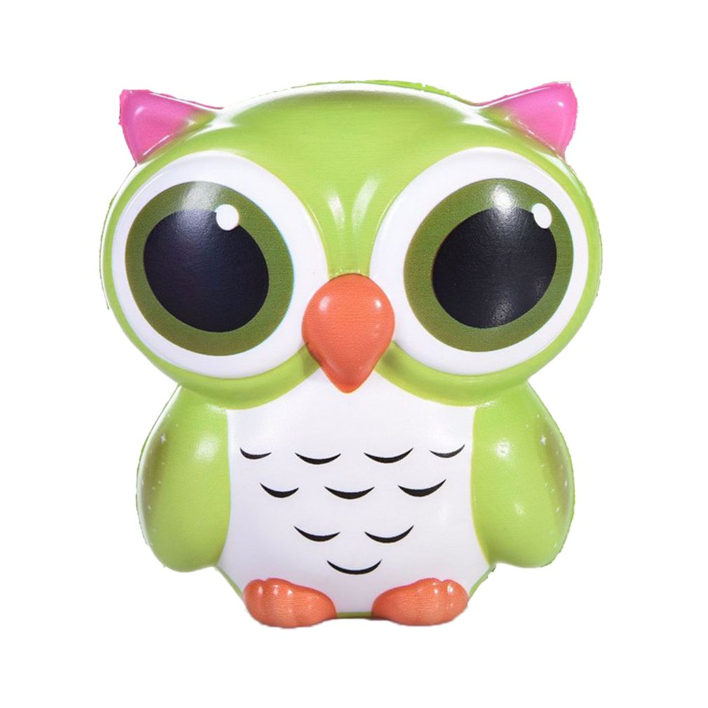 12CM Lovely Kawaii Owl Doll Soft Slow Rising Pendant Phone Straps Squeeze Toys Decompression Toys Office Stress Reliever Toys