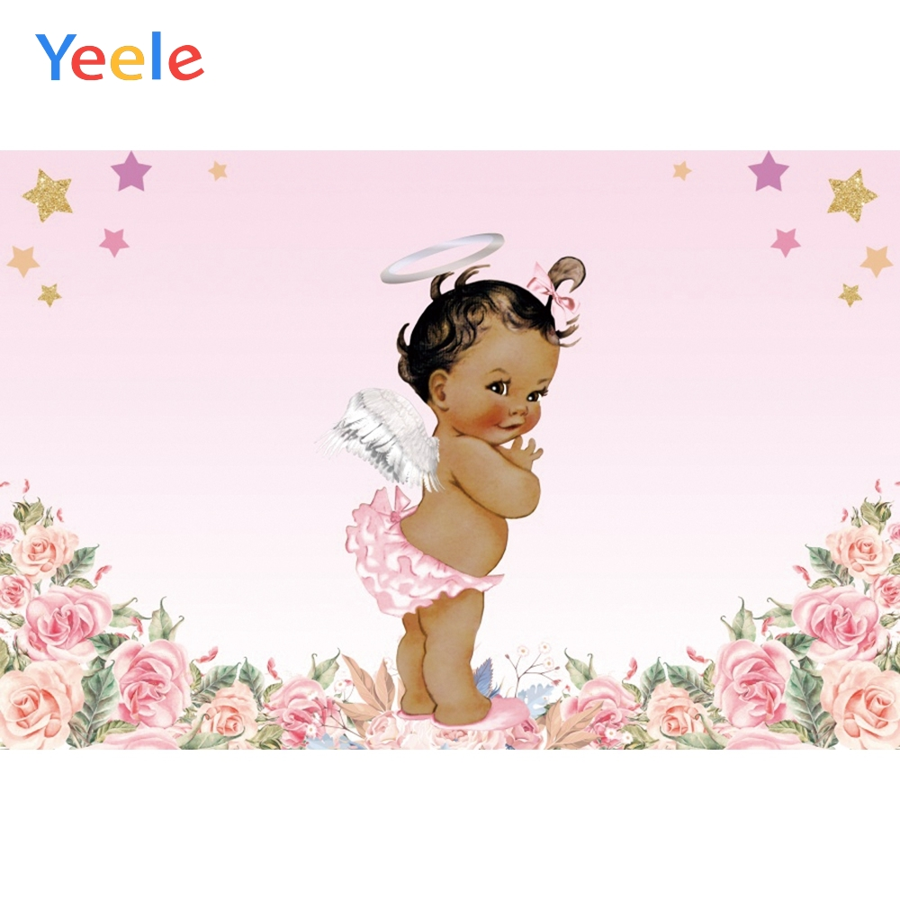 Yeele Baby Birthday Backdrop Crown Flower Princess Baby Shower Newborn Kids Custom Photography Background Vinyl For Photo Studio in Background from Consumer Electronics