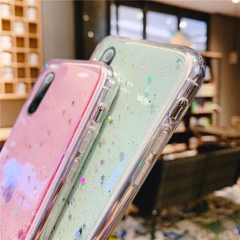 กรณี Bling Soft สำหรับ Samsung Galaxy A31 M31 A51 A71 A01 S9 S10 S20 PLUS Ultra S10e A30S A50S A7 a9 2018 A70 A50 A40 A30 A20 A10