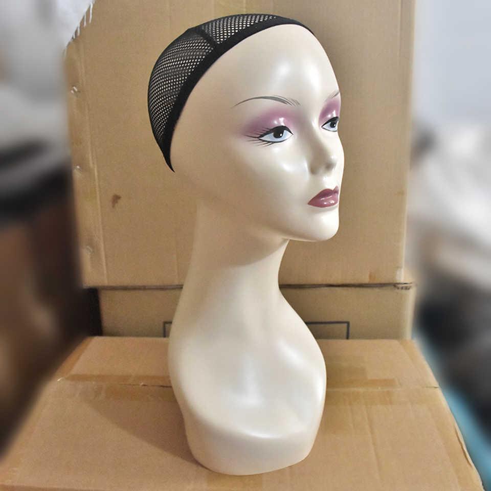 Cabeza de maniquí calva con abrazadera cabeza de maniquí femenina para hacer pelucas sombrero mostrar cosmetología cabeza de maniquí para la práctica de maquillaje