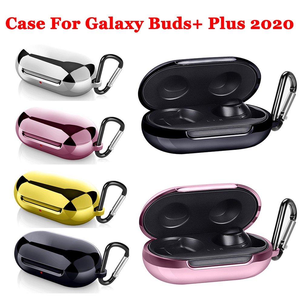 Headphones Cover For Samsung Galaxy Buds+ Plus 2020 Case TPU Electroplating Anti-fall Protective Cover For Galaxy Buds Plus Case