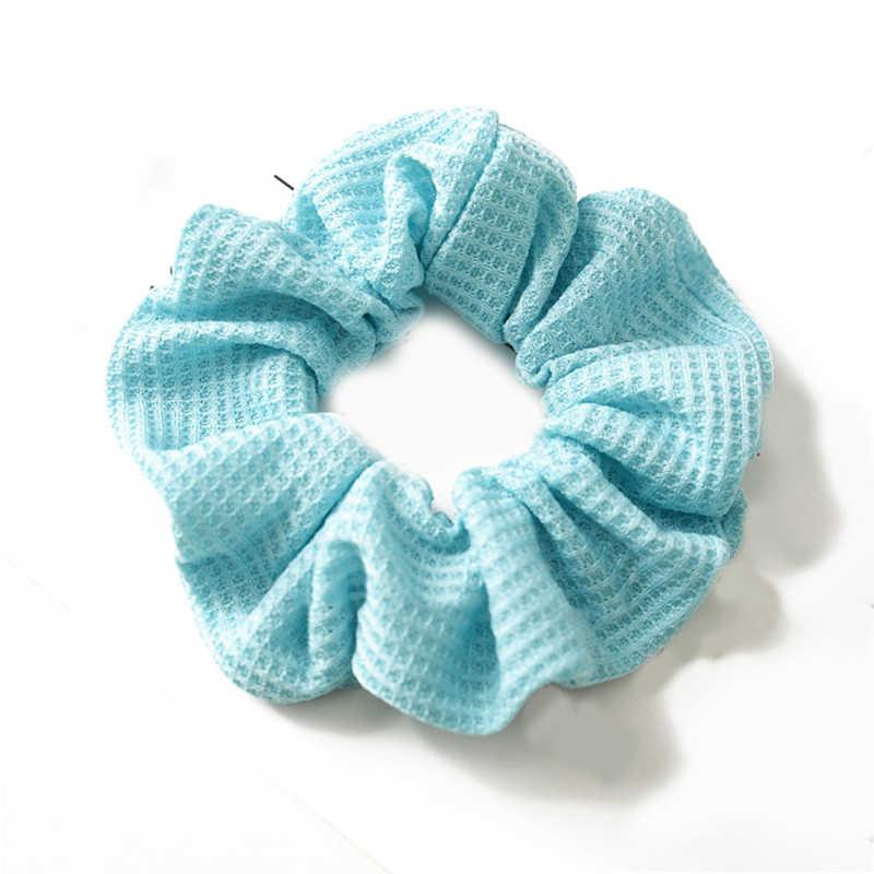 นีออนผม Scrunchies ผมวงยืดหยุ่นผมหางม้าที่มีสีสันสีชมพูสีเหลือง Bright สี Scrunchie ผมอุปกรณ์เสริม