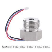 цена на G1/2 Flat Mode Pressure Transmitter 0-10/30/100/300/600bar Input 5V output 0.5~4.5V DC Film Transducer Sensor