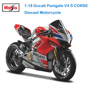 Maisto 1:18 16 styles Ducati panigale v4 s c white original authorized simulation alloy motorcycle model toy car gift collection