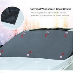 Magnetyczny samochód przednia szyba śnieg lód tarcza pokrywa Autos szyba przeciwsłoneczna Anti frost Anti fog uniwersalna osłona przeciwsłoneczna samochodu na