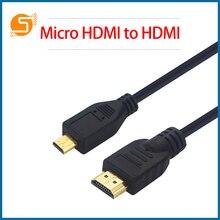 Робот для Пи малины 4 микро-HDMI к кабель Глод покрытием для 3D-адаптер для HDTV настольный телефон Pi4 RPI174