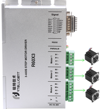 Rtelligent Nema 23 24 Stepper Motor Driver R60X3 Independently Drives Three 2-phase motor with below 60mm Stepper Motor(China)