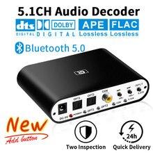 DA615 5.1CH אודיו מפענח Bluetooth 5.0 מקלט DAC אלחוטי אודיו מתאם אופטי קואקסיאליים AUX USB דיסק לשחק DAC DTS AC3 FLAC
