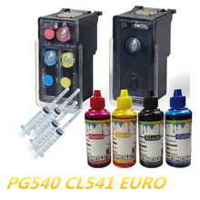 PG-540 PG540 pg 540 cl 541 Refillable ink cartridge For Canon pixma MG3155 MG3200 MG3255 MG3500 MG3550 MG4100 MG4150 MG4250