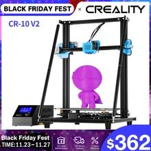 CREALITY 3D 업그레이드 CR 10 V2 프린터 크기 300*300*400mm,Silent Mainboard Mean well 전원 공급 장치로 인쇄 재개