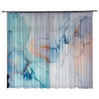 2x Window Drapery Nursery Kids Children Room Curtain Window Dressing Tulle Covering Pull Pleated Grommet Hook Abstract Green