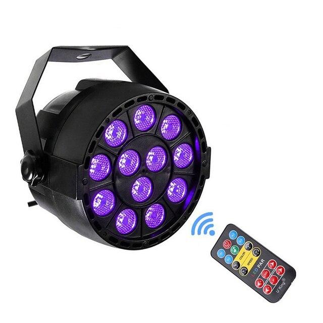 Automatyczny dźwięk aktywny DMX512 Master slave 36W UV oświetlenie sceniczne led ultrafioletowe czarne światło lampa par lampka punktowa dla Disco DJ Club